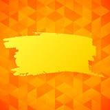 Vector orange triangles backdrop Royalty Free Stock Image