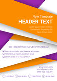Vector orange and white flyer template on a purple background. Modern poster business template in A4 size. Vector illustration Stock Images