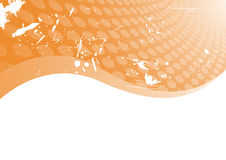 Vector oranje grungeachtergrond Royalty-vrije Stock Foto's