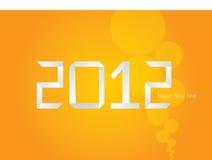 Vector oranje Nieuwjaarskaart 2012 van de Origami Royalty-vrije Stock Afbeeldingen