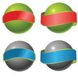 Vector orb. Buttons,whit sticker for text Royalty Free Stock Images