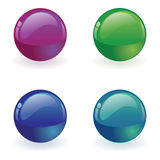 Vector orb Button Stock Images