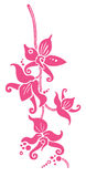 Vector Orchids. A beautiful, stylized composition with orchids; colour can be easily changed Stock Images