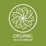 Vector orgánico del logotipo ilustración del vector