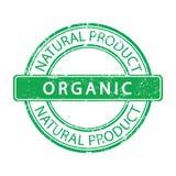Vector orgánico del producto natural del sello de goma verde fotografía de archivo