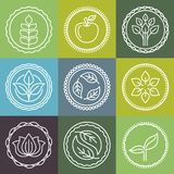 Vector organic emblems Stock Image