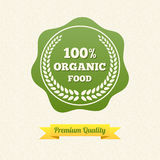 Vector Organic Food Label Royalty Free Stock Photography