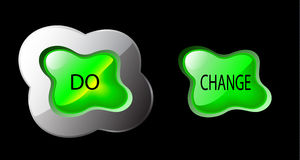 Vector organic form button - do change Royalty Free Stock Image