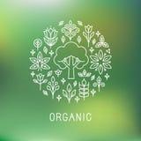 Vector organic logo Stock Image