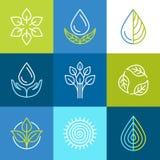Vector organic logos Royalty Free Stock Images