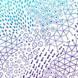 Vector organic seamless abstract background, botanical motif, freehand doodles pattern Royalty Free Stock Photo