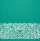 Vector oriental background. With ornate border and realistic paper effect on green cardboard Royalty Free Stock Image