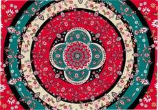 Vector oriental de la alfombra Fotos de archivo