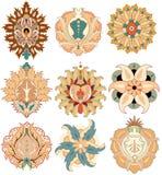 Vector oriental del rosace de los elementos Fotos de archivo