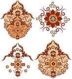 Vector oriental del rosace de los elementos Foto de archivo libre de regalías