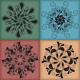 Vector Oriental Mandalas Royalty Free Stock Images