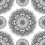 Vector, oriental, seamless background with mandalas Royalty Free Stock Images