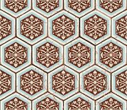 Vector Oriental seamless pattern. Realistic Vintage Moroccan Stock Image