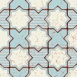 Vector Oriental seamless pattern. Realistic Vintage Moroccan Royalty Free Stock Photo