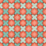 Vector Oriental seamless pattern. Realistic Vintage Moroccan, Portuguese octagonal tiles. Stock Images
