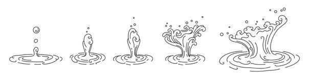 Vector oriental tradicional de la gotita de agua stock de ilustración