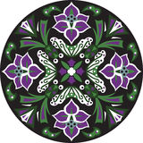 Vector oriental traditional lotus flower circular pattern Royalty Free Stock Images