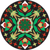 Vector oriental traditional lotus flower goldfish circular pattern Stock Image