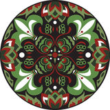 Vector oriental traditional lotus flower goldfish circular pattern Stock Photos