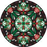 Vector oriental traditional lotus flower goldfish circular pattern Royalty Free Stock Photos
