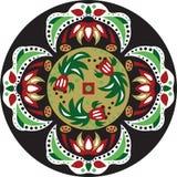 Vector oriental traditional lotus flower goldfish circular pattern Royalty Free Stock Photo