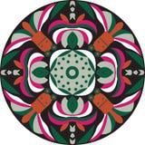 Vector oriental traditional lotus flower goldfish circular pattern Royalty Free Stock Image