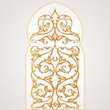 Vector oriental window Royalty Free Stock Photography