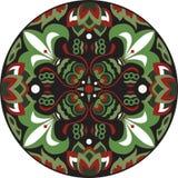 Vector orientalisches traditionelles Lotosblumen-Goldfischrundschreibenmuster Stockfotos