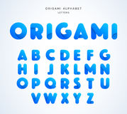 Vector origami alphabet. Letter collection Stock Photography