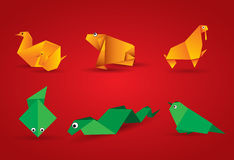 Vector origami animal Stock Photos