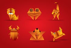 Vector origami animal Stock Images