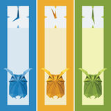Vector origami  animal. Cute Owl Royalty Free Stock Image