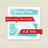 Vector origami banner with halftone efect. Stock Image