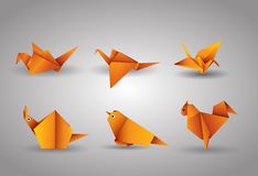 Vector origami Birds Stock Photo
