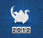 Vector origami dragon 2012 Royalty Free Stock Image