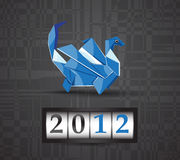 Vector origami dragon 2012 Stock Photo