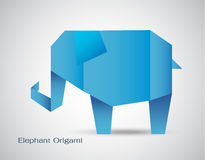 Vector origami elephant Royalty Free Stock Photography