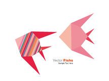 Vector origami fishs Stock Photography