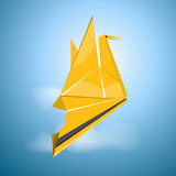 Vector origami flying bird Royalty Free Stock Image