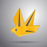 Vector origami flying bird Royalty Free Stock Images