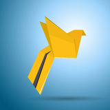 Vector origami flying bird Stock Photo