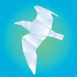 Vector origami gull Royalty Free Stock Photography