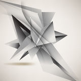 Vector origami inspired business background Stock Photos