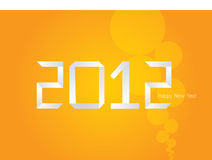 Vector Origami orange New Year card 2012 Royalty Free Stock Images