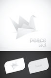 Vector origami paper bird icon. And business card templates Royalty Free Stock Photos